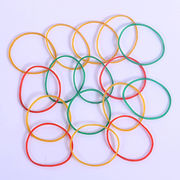 Transparent colorful natural rubber bands