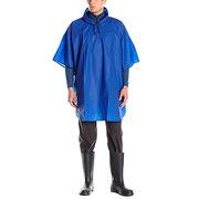 Polyurethane hooded rain gear men's poncho from  Fuzhou H&f Garment Co.,LTD
