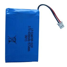 Lithium polymer battery packs from  Shenzhen BAK Technology Co. Ltd
