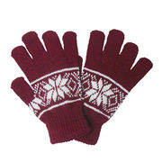 Trendy Snowflakes Knitted Gloves from  Ebolle Fashion Accessories Co. Ltd