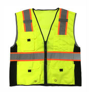High light safety reflective jacket from  Fuzhou H&f Garment Co.,LTD