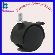 China China EXW 1.5 inch 40mm locking nylon wheels ball caster