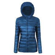 China direct wholesale hooded women down jacket from  Fuzhou H&f Garment Co.,LTD