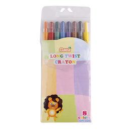 High-quality 8-color long twist crayon from  Gaea Enterprises (Shanghai) Co. Ltd