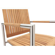 China Stainless steel arm chair with teak