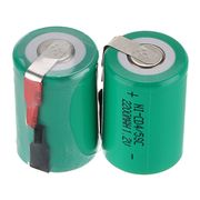 China 1.2V 2200mAh NiCd Rechargeable Battery 4/5 Sub C SC with Tabs