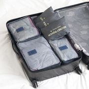 China Travel bags, 6pcs/set, include 3-mesh bag and 3-laundry pouch, made of polyester 210D, hot sales
