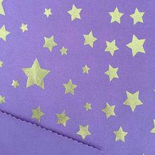 Foil-printed stretch fabric from  Fuzhou Texstar Textile Co. Ltd
