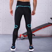China Men's sports printed long legging