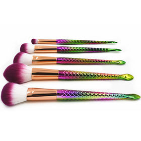 5pc Mermaid Makeup Brush Set from  Shenzhen Rejolly Cosmetic Tools Co., Ltd.