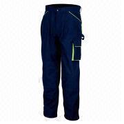 Navy blue work pants from  Fuzhou H&f Garment Co.,LTD