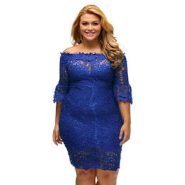 Royal Blue Off-shoulder Dress from  Nan'an City Shiying Sexy Lingerie Co. Ltd
