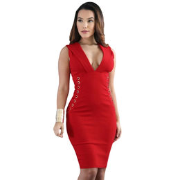Red Lace Bodycon Dress from  Nan'an City Shiying Sexy Lingerie Co. Ltd