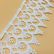 Off White Wide Needlepoint Lace Trims from  Chanch Accessories International Co. Ltd