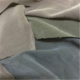 Plain dyed sand washed silk crepe de chine fabric from  Suzhou Best Forest Import and Export Co. Ltd