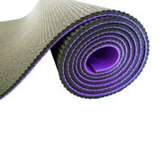 China Yoga mat, 2-tones, eco-friendly, 11P free, luxury, 6mm thickness