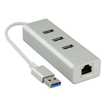 3 Port Gold Aluminum USB 3.0 Hub from  Dongguan SIYAO Electric Co.,Ltd