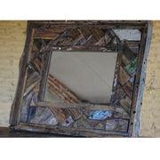 Cutting wall wood mirror