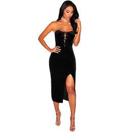 Strapless Slit Dress from  Nan'an City Shiying Sexy Lingerie Co. Ltd