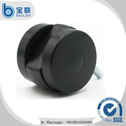 China Factory price swivel durable furniture 2.5 inch black ball caster