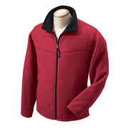 Heavy polar fleece jacket no hood windproof from  Fuzhou H&f Garment Co.,LTD