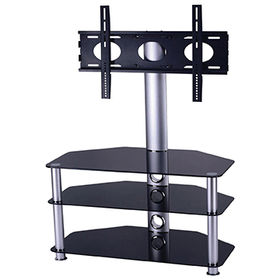 Home furniture modern glass LCD TV stand ZAL009e from  Zhilang Furniture Co.,Ltd