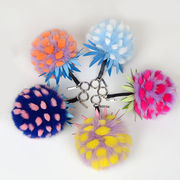 Novelty Plush Pom-pom Pineapple Keychain from  Chanch Accessories International Co. Ltd