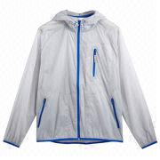 Foldable men's windbreakers from  Fuzhou H&f Garment Co.,LTD
