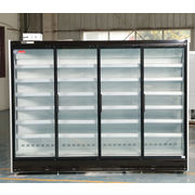 China Remote compressor four glass door supermarket beverage display cooler