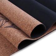 China Custom Label Yoga Mat, Natural Cork Rubber Yoga Mat