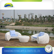 China White Lounge Chair and Coffee Table