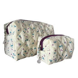 Quilted Design Polycotton Vanity Bag Set from  Shanghai Promart Int'l Co. Ltd