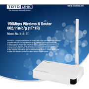 China TOTOLINK N151RT 150Mbps Wireless N Router with One high gain detachable antennas