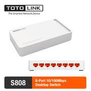 China TOTOLINK S808 8-Port Switch 10/100Mbps Desktop Switch