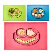 China Baby Smile Silicone Dinner Plates