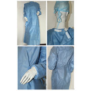 China Disposable sms smms reinforced surgical gowns with different weight, sizes and blue colors