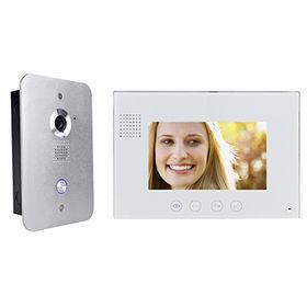 Video intercom for 4 wires villa
