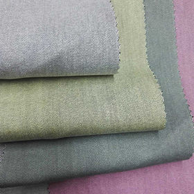 Half bleache Colored woven denim fabric from  Ningbo Nanyan Import & Export Co. Ltd
