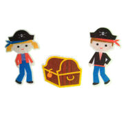 China Felt material little pirate role play sets toys