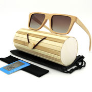 China Men's wooden sun glasses with polarized lenses