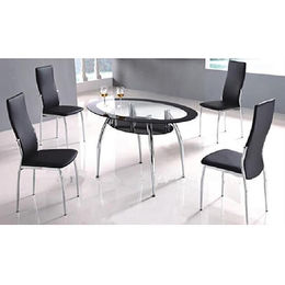 Oval Shape Glass Top Dining Table from  Langfang Peiyao Trading Co.,Ltd