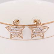 Hollow-out zircon earrings from  HK Yida Accessories Co. Ltd