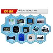 "China LCD display of 2.5"", blue segments white back light"