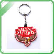 China Customized high quality silver keychains with multiple glitter colors for cheerleaders associations