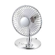 Battery operated fan with oscillating function