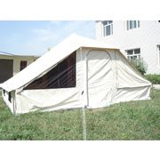 China Steel pole canvas Roman family tent