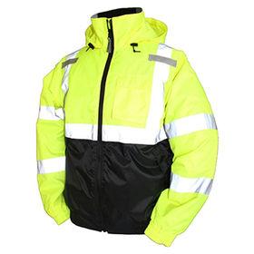 High visibility winter safety reflective jacket from  Fuzhou H&f Garment Co.,LTD