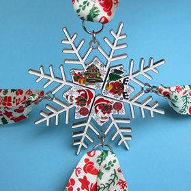 medalla del copo de nieve de la Navidad del Multi-pedazo