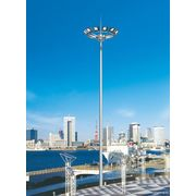 China Q235 Anti-corrosive Conical Flood Lighting Pole with Lifting System