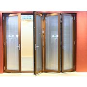 China Side hung door with wooden material